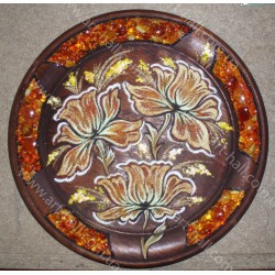 Тарілка з квітами