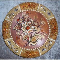 Тарілка з квіткою