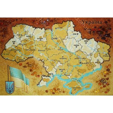 Картина Карта Украины