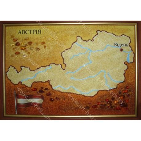 Картина Карта Австрии