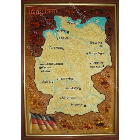 Картина Карта Німеччини