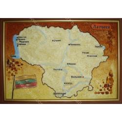 Картина Карта Латвии
