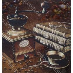 Картины книги и кофе