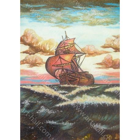 Картина Парусник на волнах