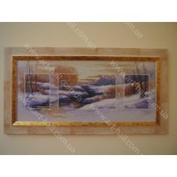 Вышитая картина «Зима»