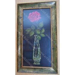 Картина «Красная роза» ручной работы