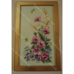 Картина «Маки и ромашки»