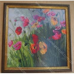 Картина «Маки» ручной работы