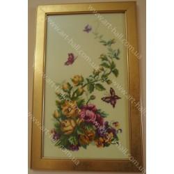 Картина «Рози и бабочки»
