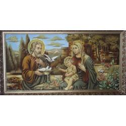 Икона Богородица и голуби